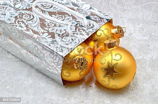 istock Christmas balls 843163604