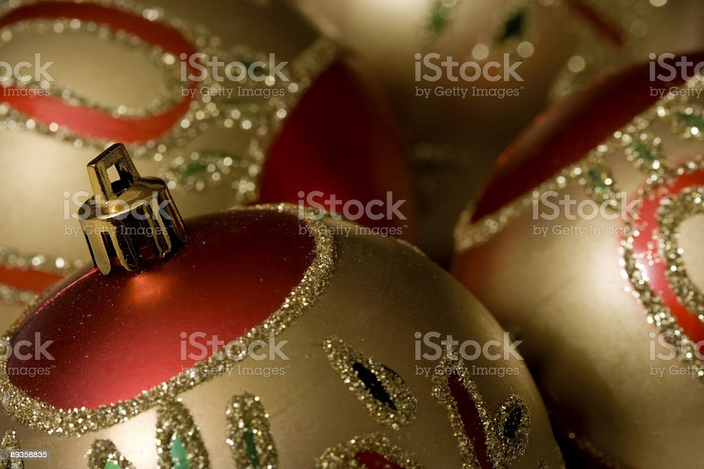 Bolas de Natal - fotografia de stock