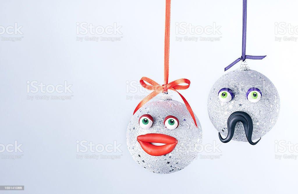 Christmas balls portrait. royalty-free stock photo