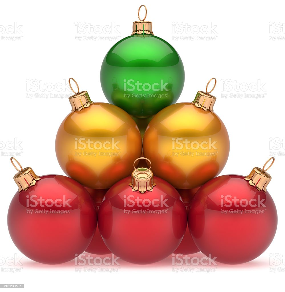 7de98561a16 Fotografía de Bolas De Navidad Verde Pirámide Líder Superior De ...