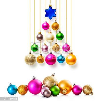 istock Christmas balls tree set 1014139488
