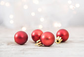 istock Christmas Balls With Defocused Lights Background 1072354116