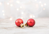 istock Christmas Balls With Defocused Lights Background 1072354122