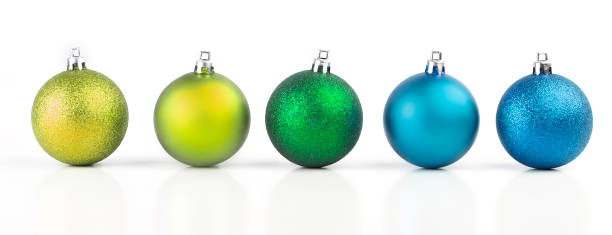christmas balls with vivid colors - bombka zdjęcia i obrazy z banku zdjęć