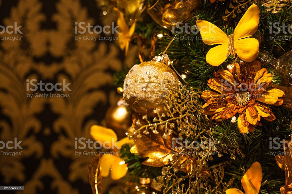 christmas barok style gold stock photo