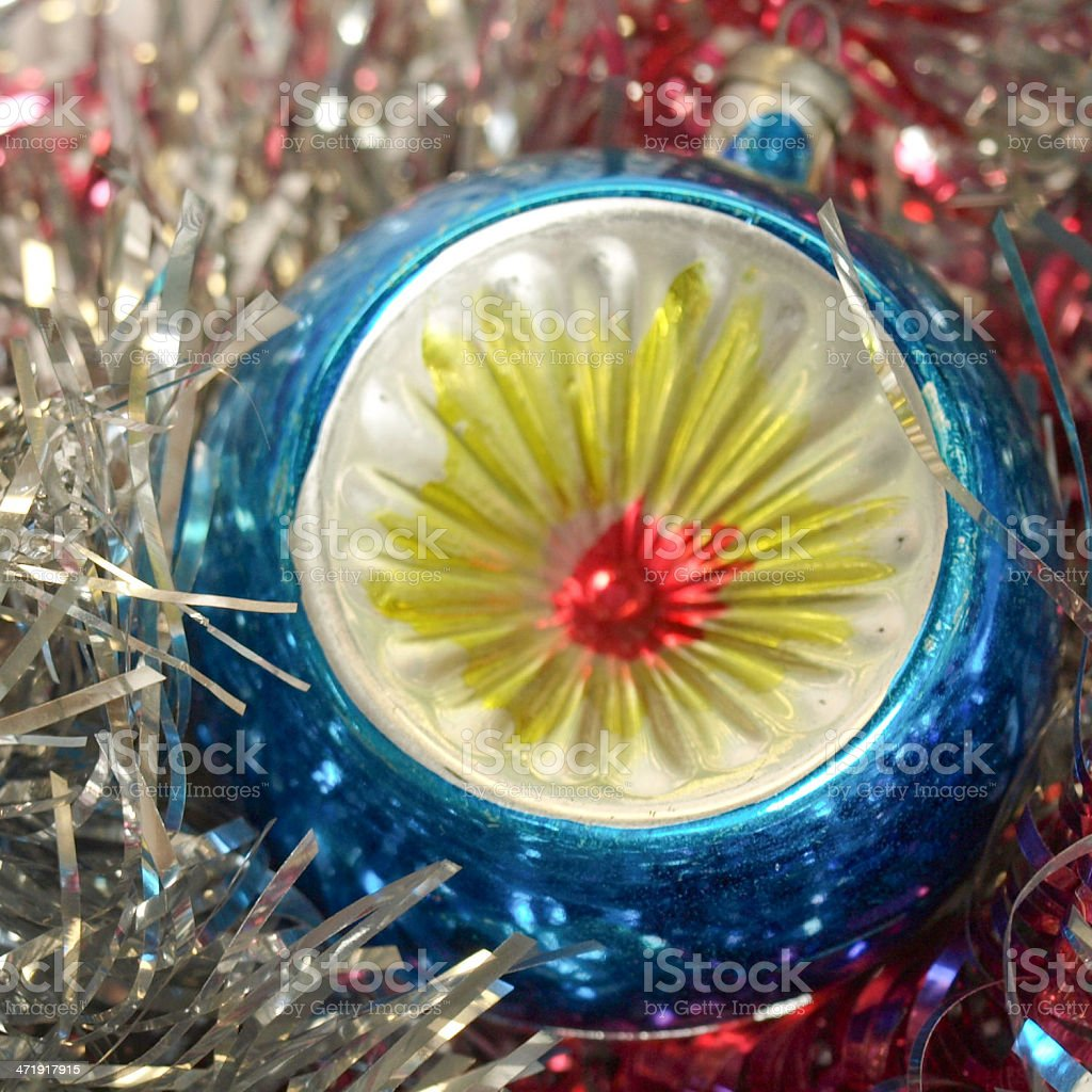 Christmas bauble and tinsel royalty-free stock photo