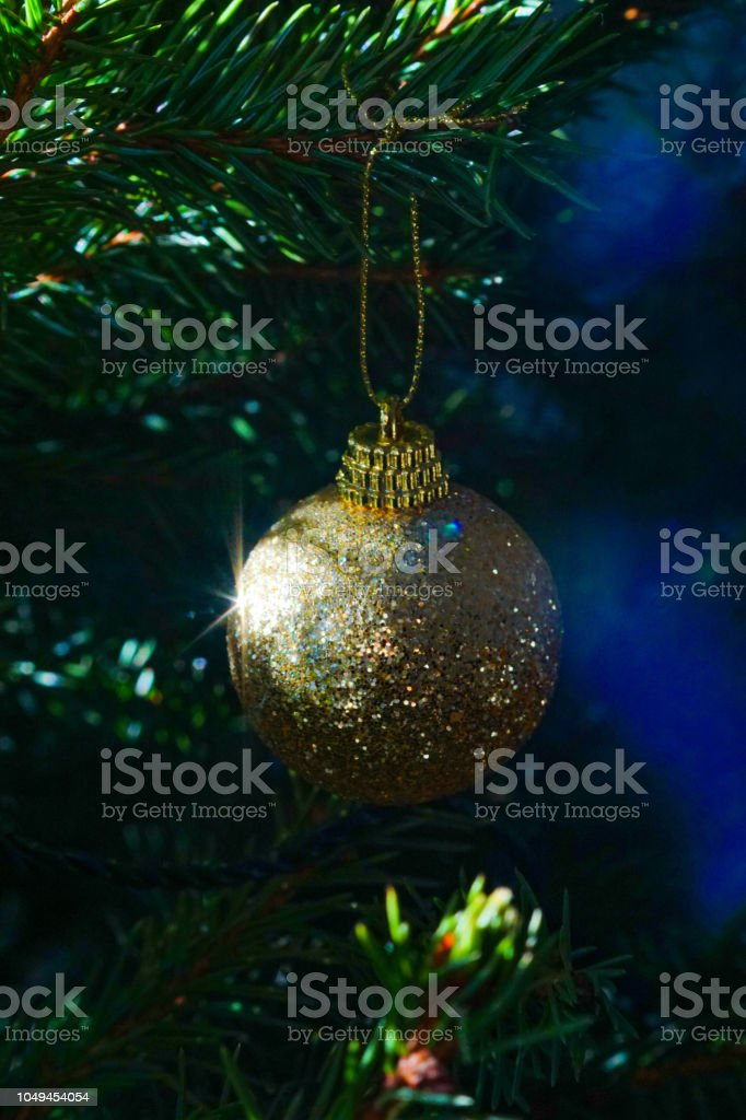 Christmas bauble closeup stock photo