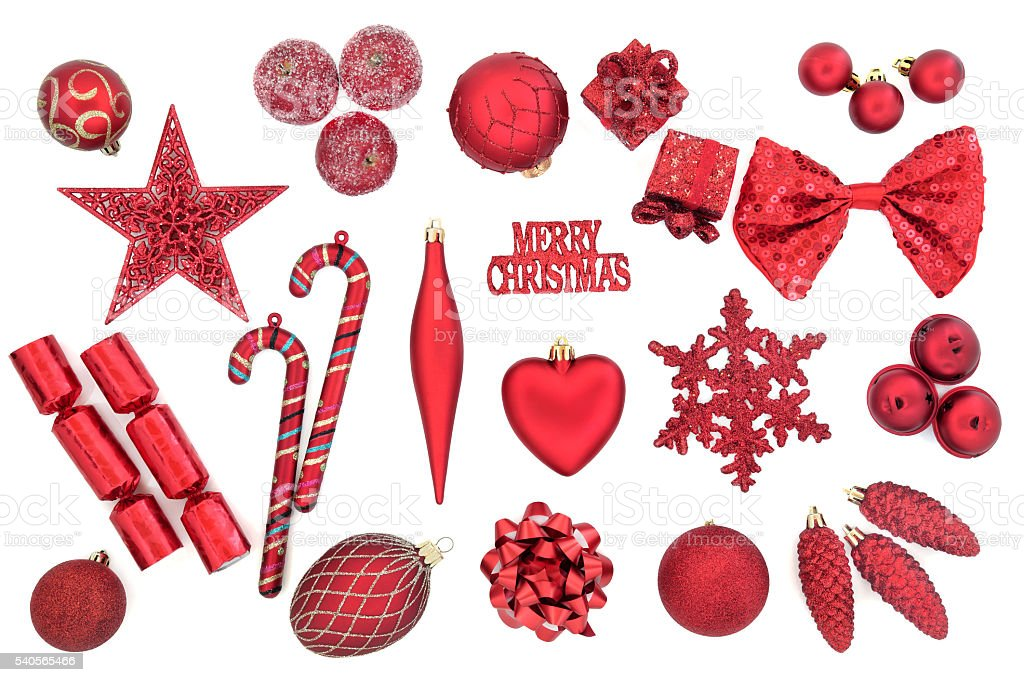 Christmas Bauble Decorations stock photo