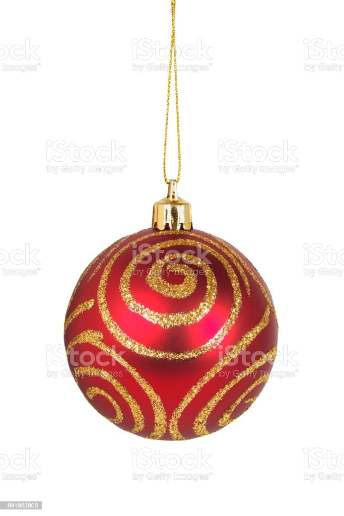 Christmas bauble on white stock photo