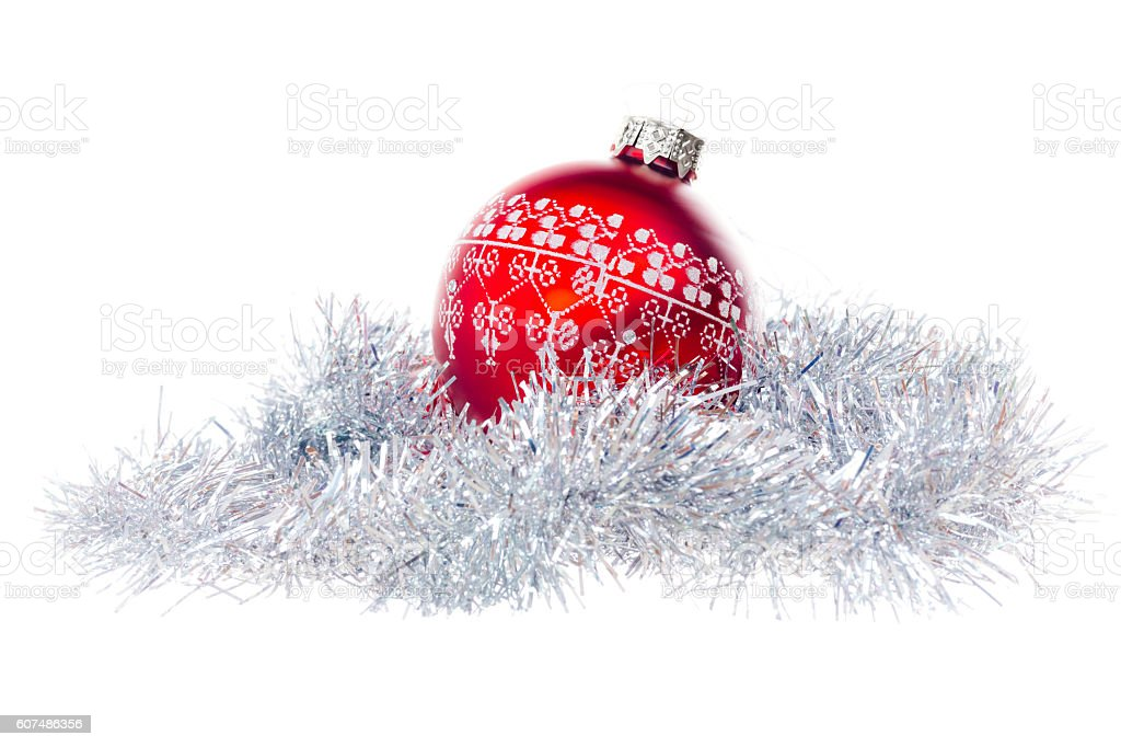 Christmas bauble stock photo