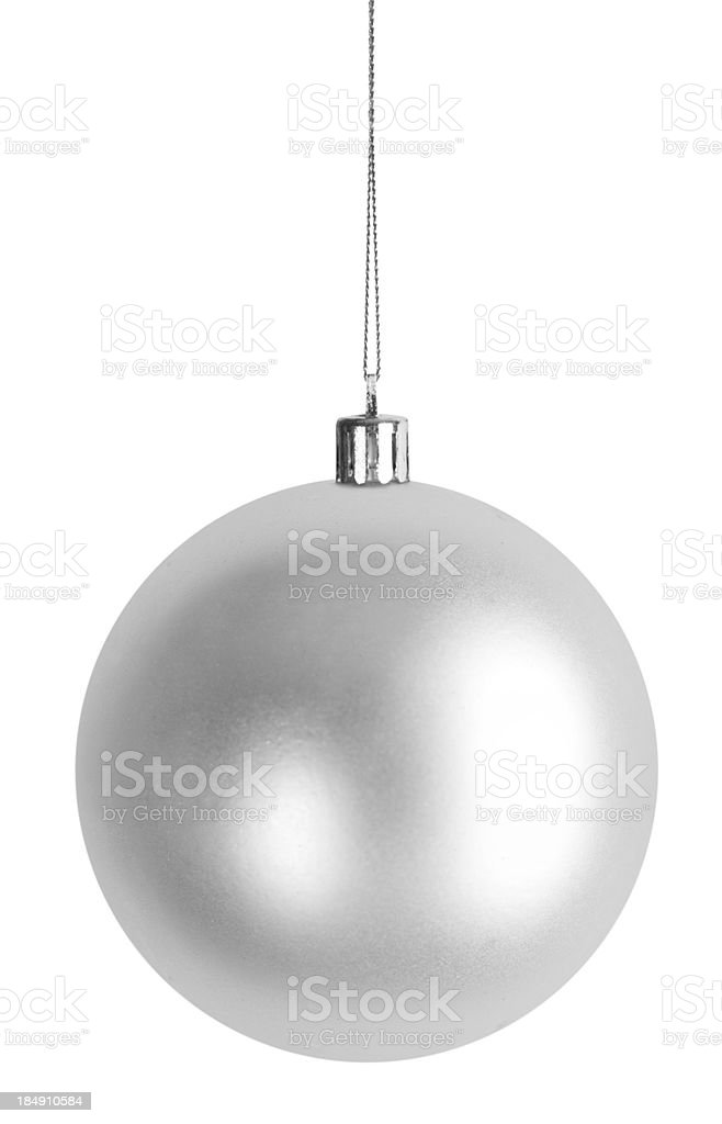 Christmas Bauble - silver stock photo