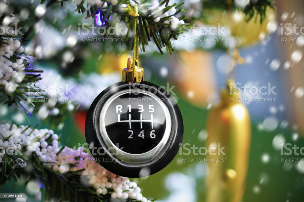 Christmas bauble with car gearshift symbol – zdjęcie