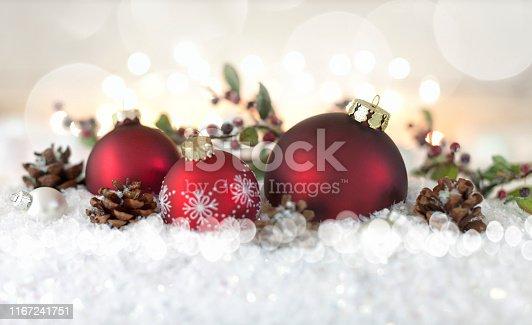 1020742072istockphoto Christmas Baubles Background 1167241751