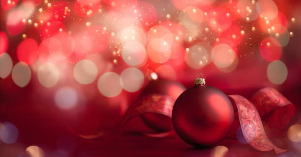 Weihnachts-Baubles Hintergrund – Foto