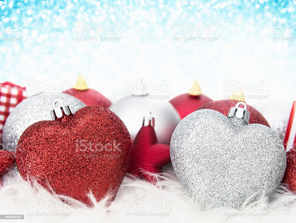 Christmas baubles decoration royalty-free stock photo