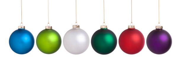 Christmas baubles large set collection isolated on white Christmas baubles large set isolated on white in red, purple, light green, green, white and blue christmas ornament stock pictures, royalty-free photos & images
