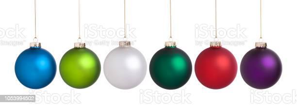 Photo libre de droit de Christmas Baubles Grande Collection De Jeu Isolée Sur Blanc banque d'images et plus d'images libres de droit de Balle ou ballon
