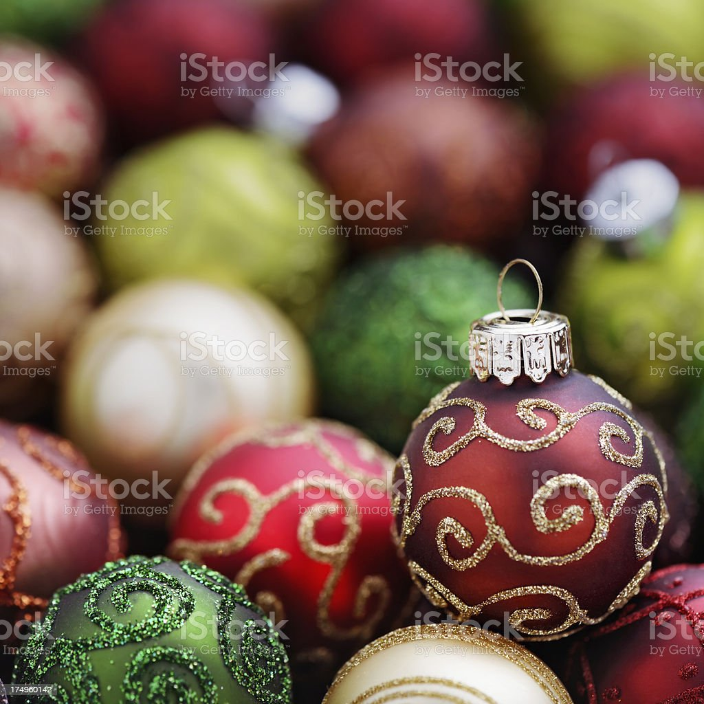 Christmas baubles royalty-free stock photo