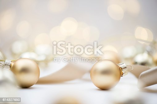 istock Christmas Baubles 614327650