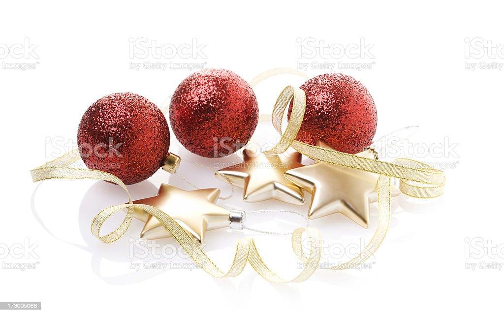 Christmas Baubles, Stars and ribbon (XL) royalty-free stock photo