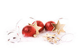 istock Christmas Baubles, Stars and ribbon 463587795