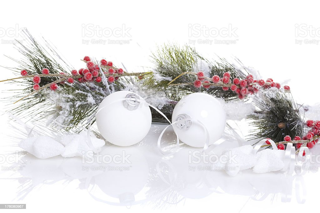 Christmas Baubles with reflection royalty-free stock photo