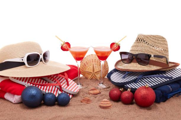 Christmas beach holidays stock photo