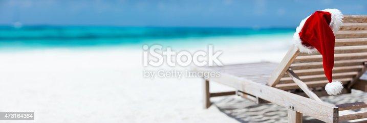 istock Christmas beach vacation 473164364
