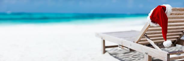 Christmas beach vacation stock photo