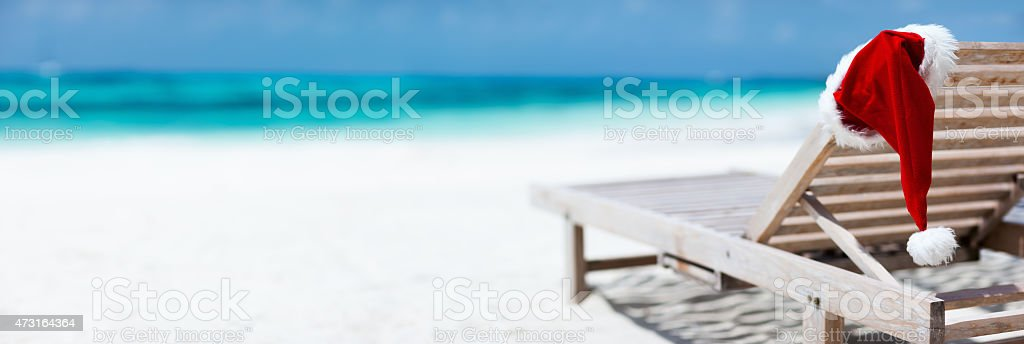 Christmas beach vacation stock photo