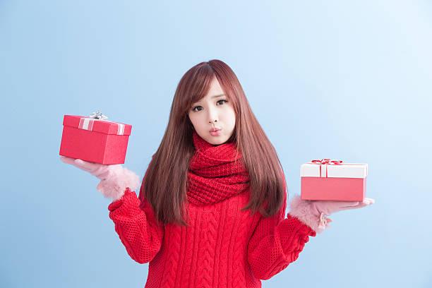 christmas beauty woman - weihnachten japan stock-fotos und bilder