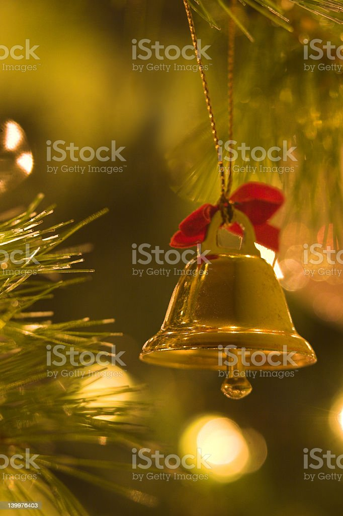 Christmas Bell Decoration royalty-free stock photo