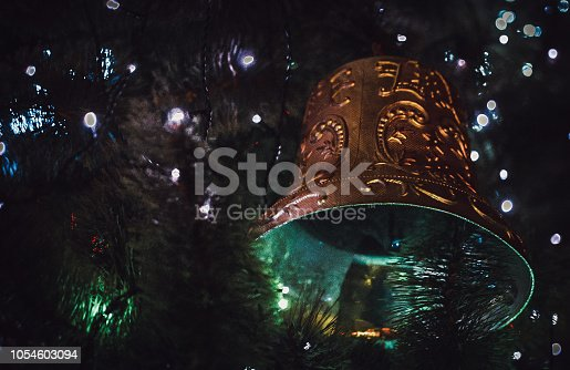 istock Christmas bell new year 1054603094