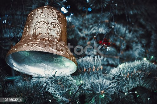 istock Christmas bell new year 1054603214