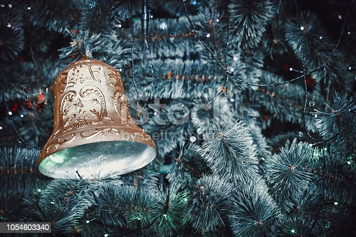 istock Christmas bell new year 1054603340