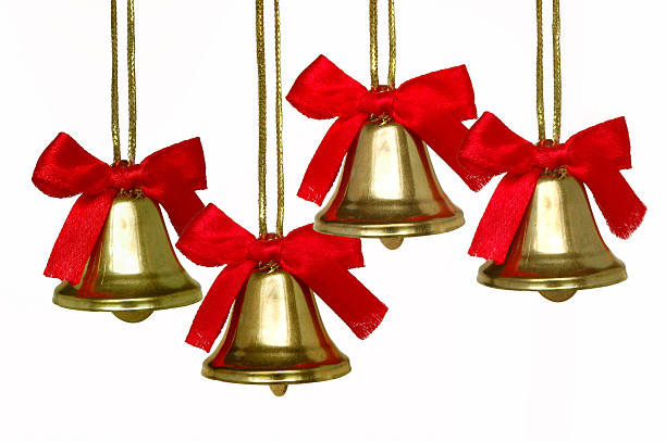 Christmas Bell Quartet  annually stock pictures, royalty-free photos & images