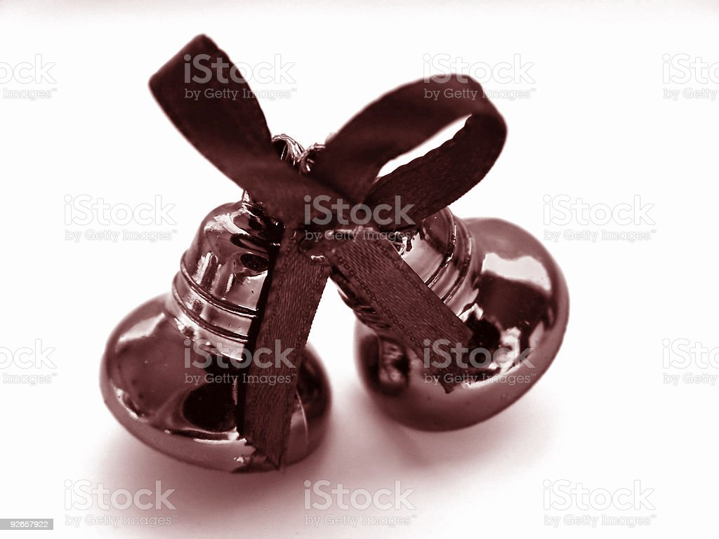 Christmas Bells in Red royalty-free stock photo