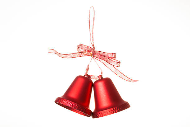 Christmas bells, isolated on white stock photo