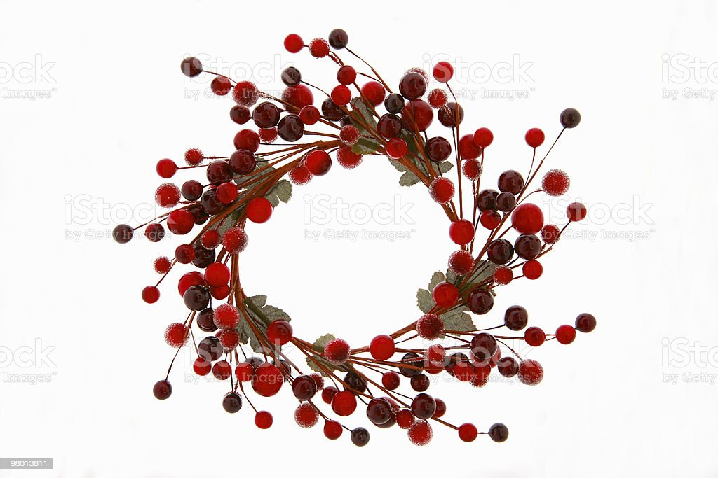 Christmas Berry Wreath royalty-free stock photo