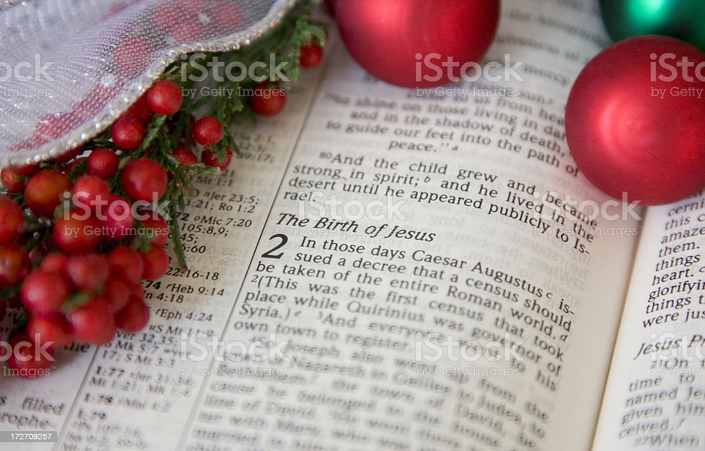 Christmas Bible #9 stock photo