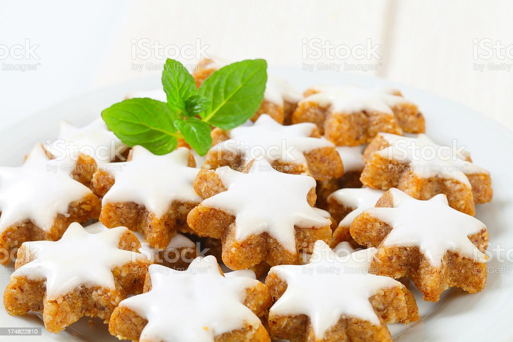 christmas biscuits on plate royalty-free stock photo