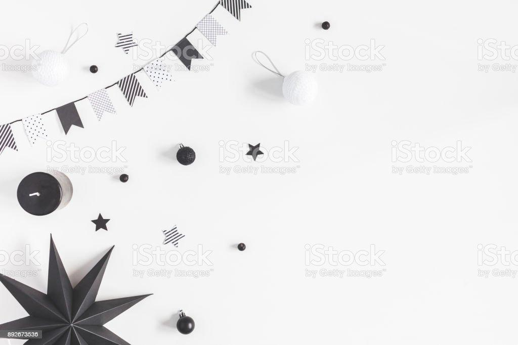 Photo Libre De Droit De Décorations De Noël Noir Et Blanc