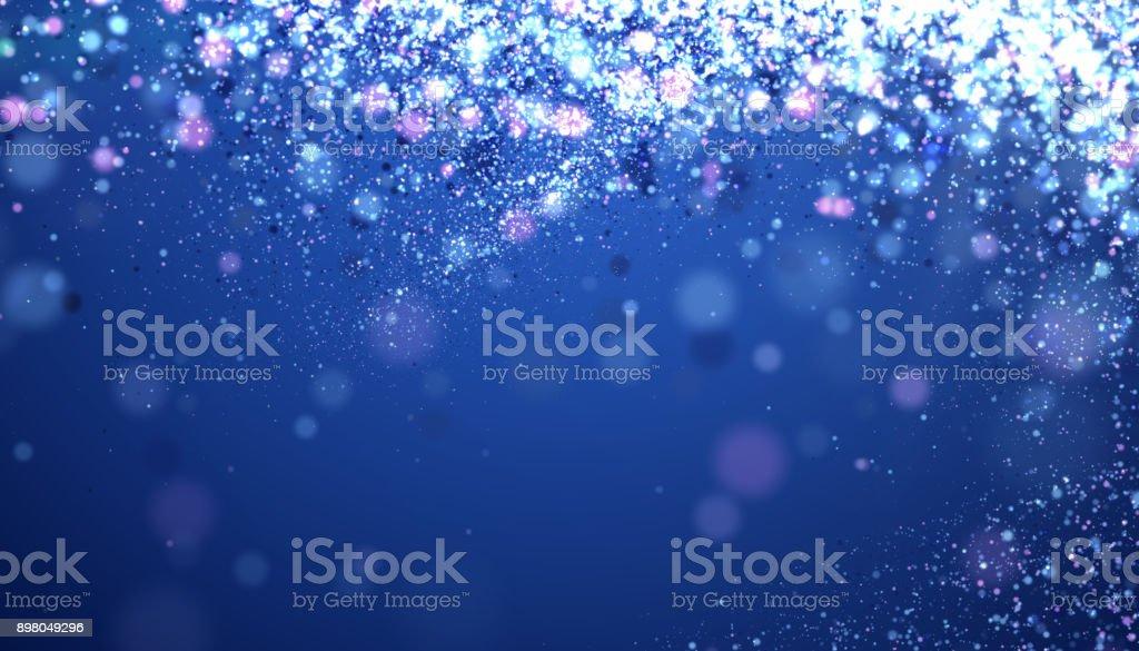 Christmas Blue Background stock photo