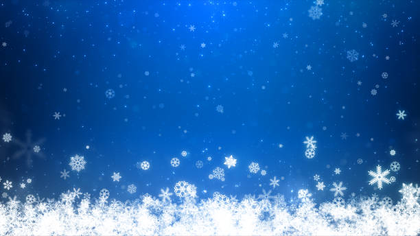christmas blue background - snowflake background stock pictures, royalty-free photos & images