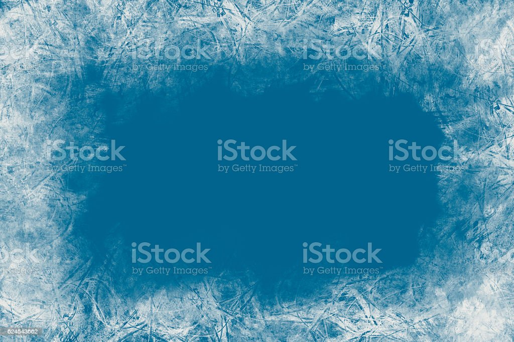 Christmas blue background,frozen pattern.Empty space for text,poscards. stock photo