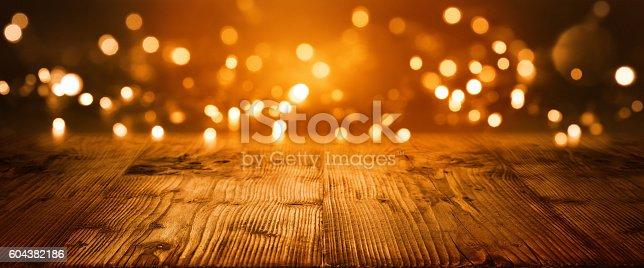 istock Christmas Bokeh background 604382186