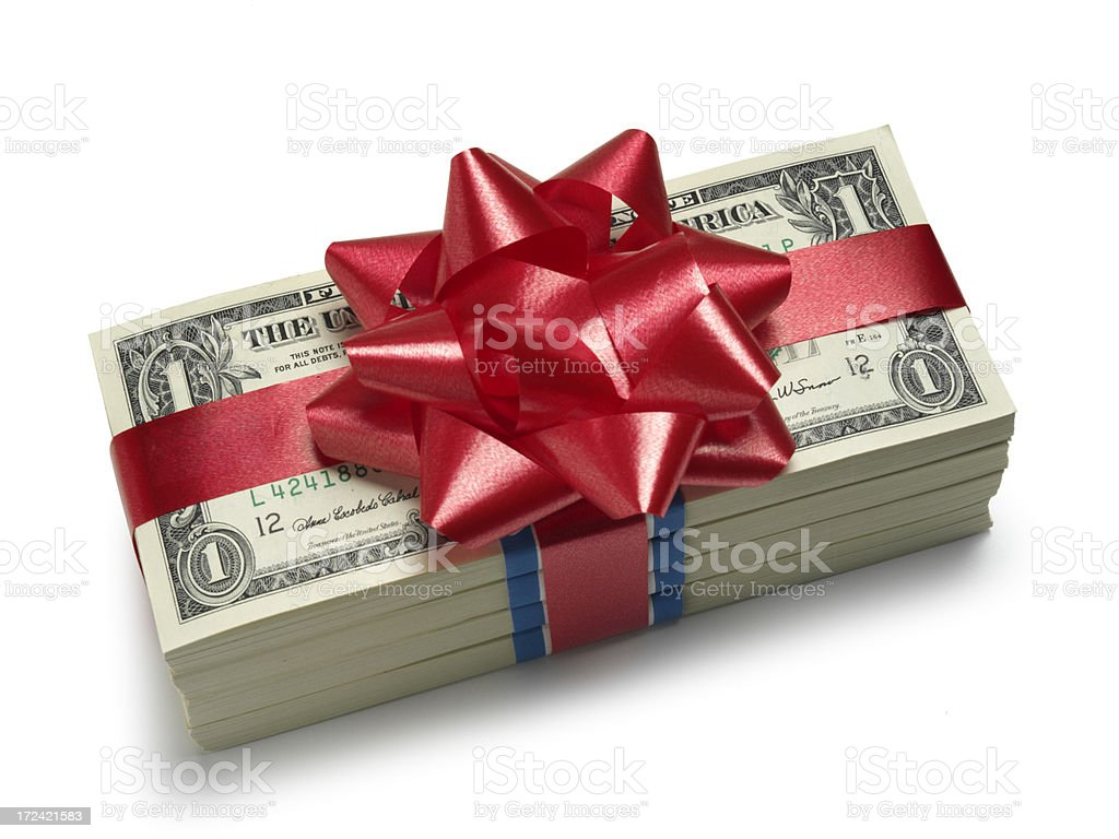 Christmas Bonus stock photo