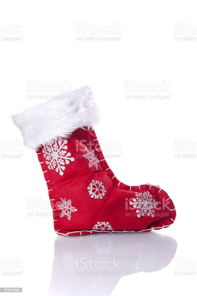 Christmas boot royalty-free stock photo