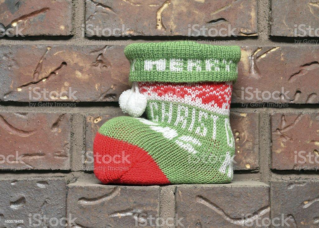 Christmas Boot Stocking royalty-free stock photo