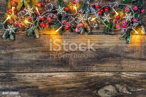 istock Christmas border background 848135852